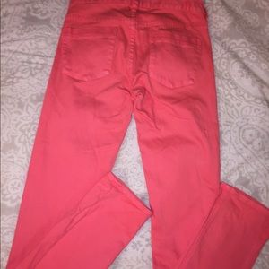 J.Crew Matchstick Bright Pink Skinny Jeans Size 24